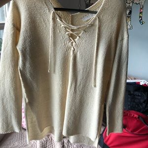 Astra sweater lace-up